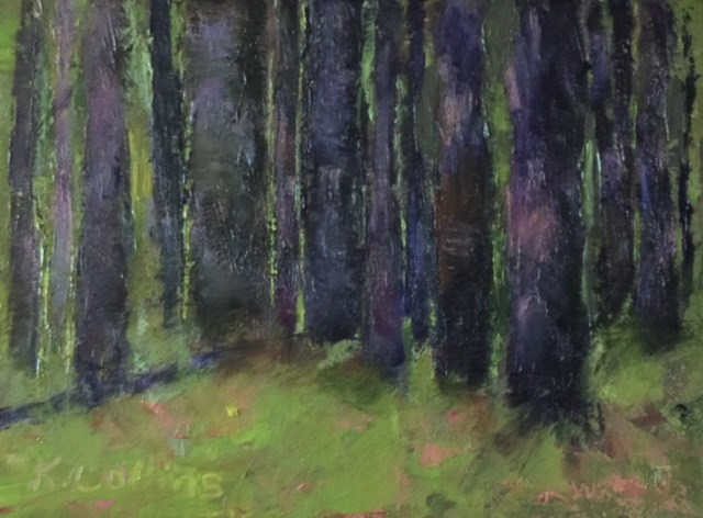 """Deep in the Pine Forest"" original fine art by Kathy Collins"