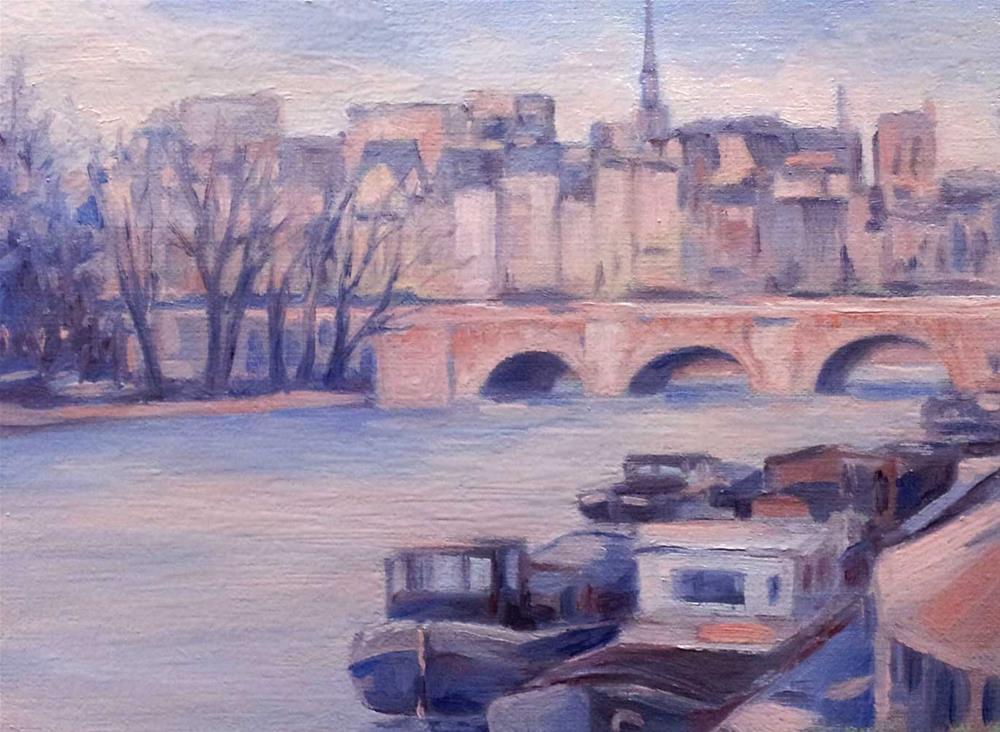 """Something about Paris"" original fine art by Olga Touboltseva-Lefort"