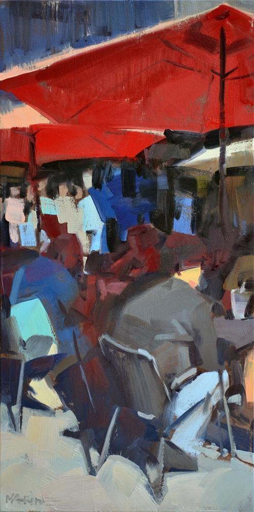 """Outdoor Seating"" original fine art by Carol Marine"