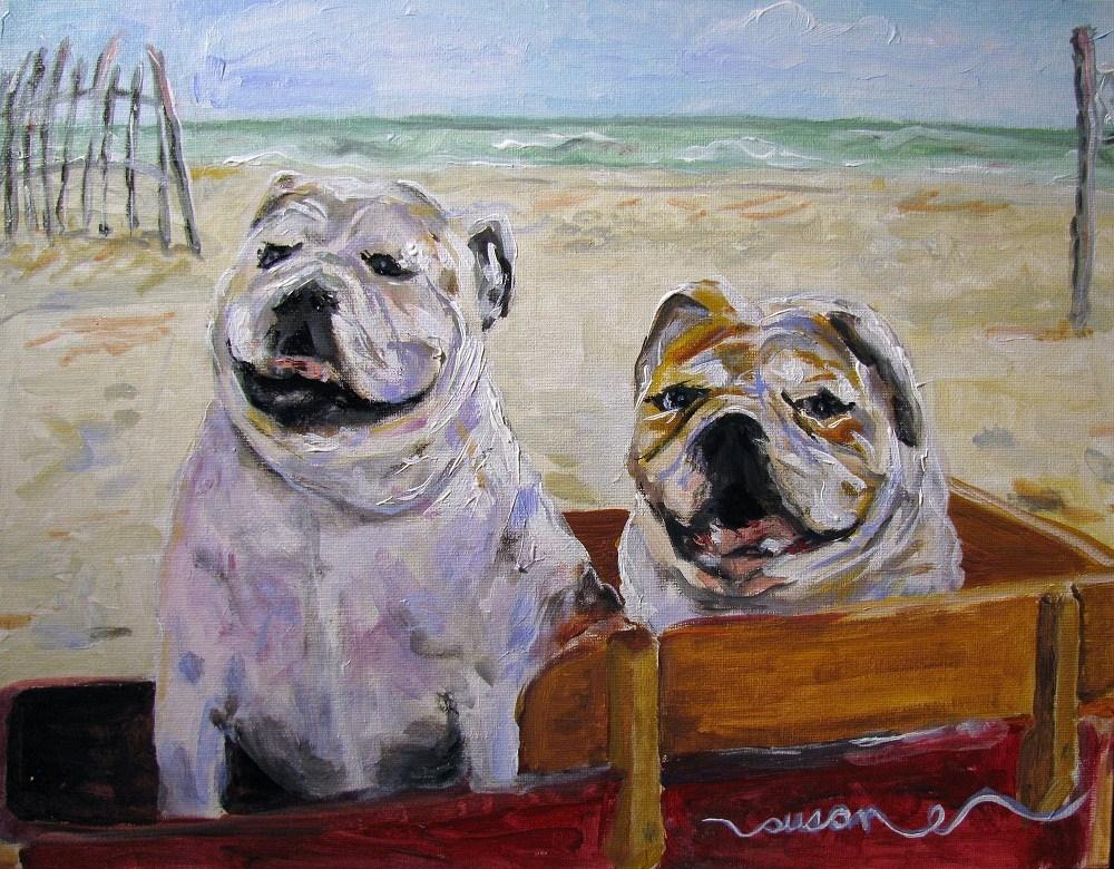 """Abby and Brady"" original fine art by Susan Elizabeth Jones"