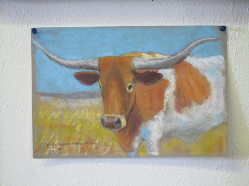 """Another Longhorn"" original fine art by Pat Stoddard Aragon"