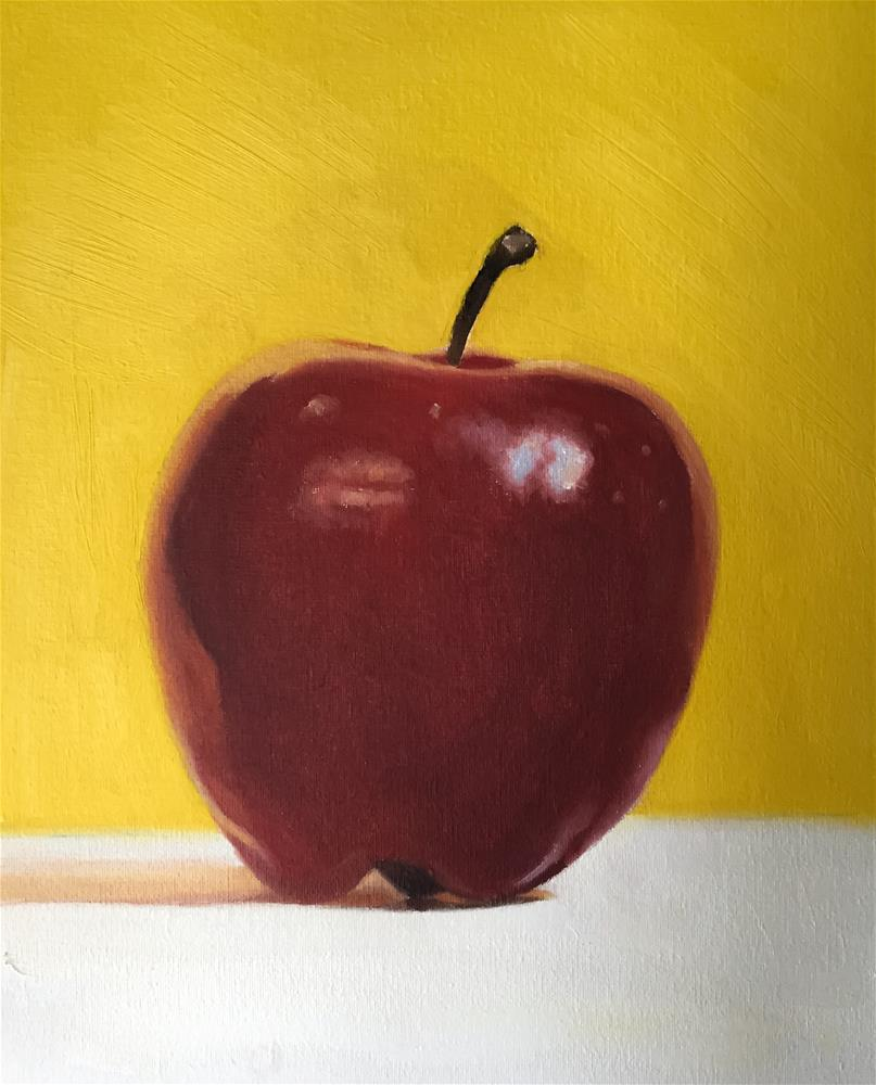 """Apple"" original fine art by James Coates"