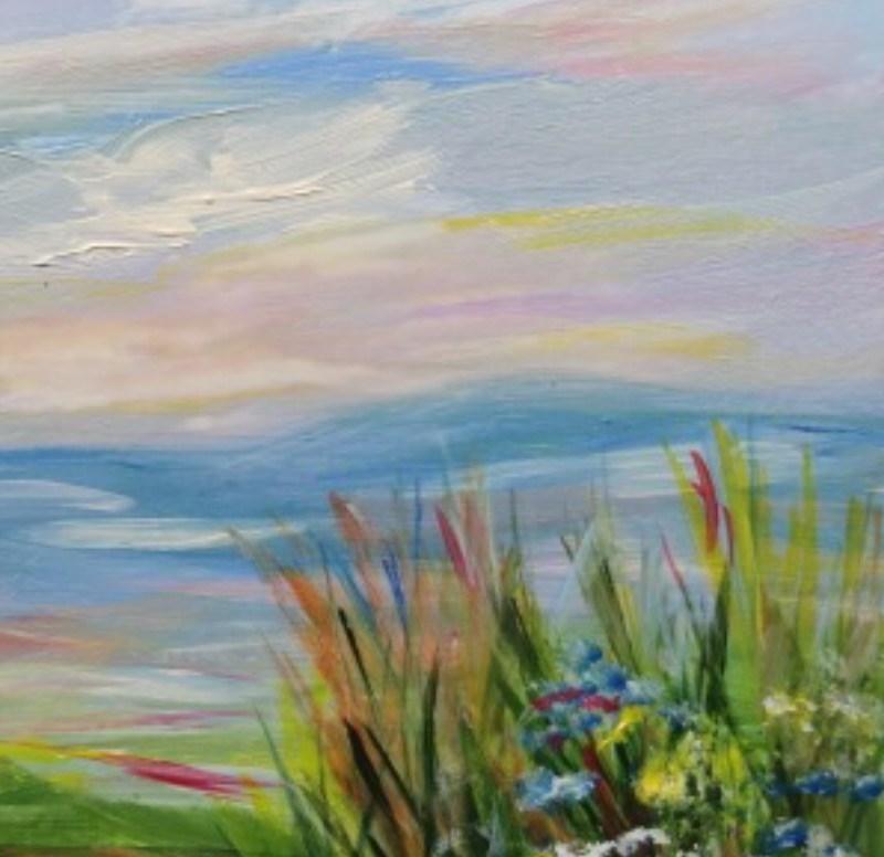 """7022 - Pastel Sky - Framed"" original fine art by Sea Dean"