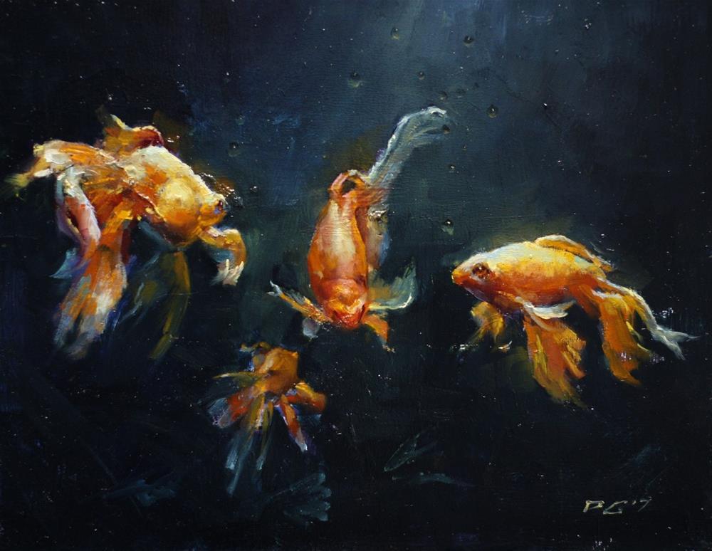 """Fish Study"" original fine art by Dimitriy Gritsenko"