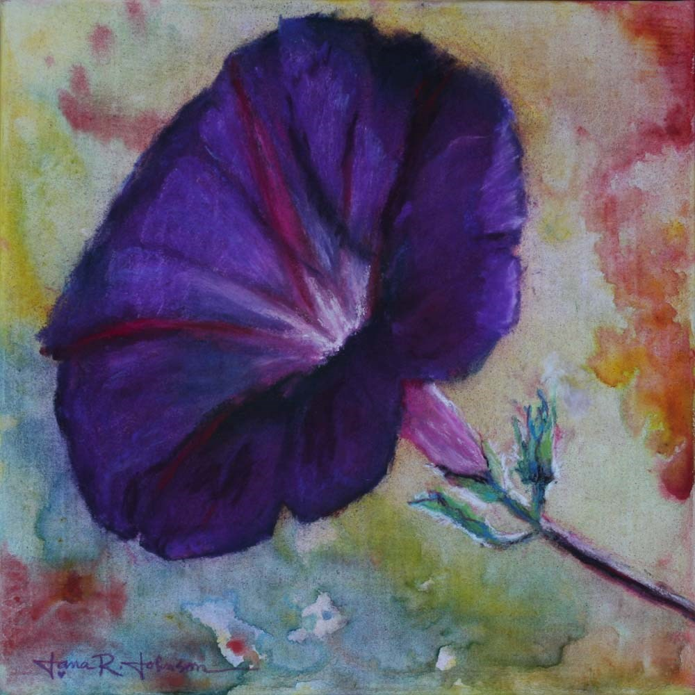 """Morning Glory 1"" original fine art by Jana Johnson"