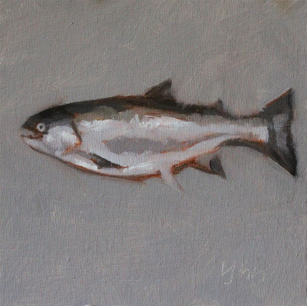 """""""Fish"""" original fine art by Yuehua He"""