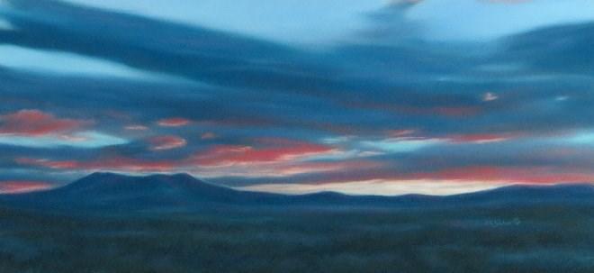 """Blue Banners"" original fine art by Carol Zirkle"