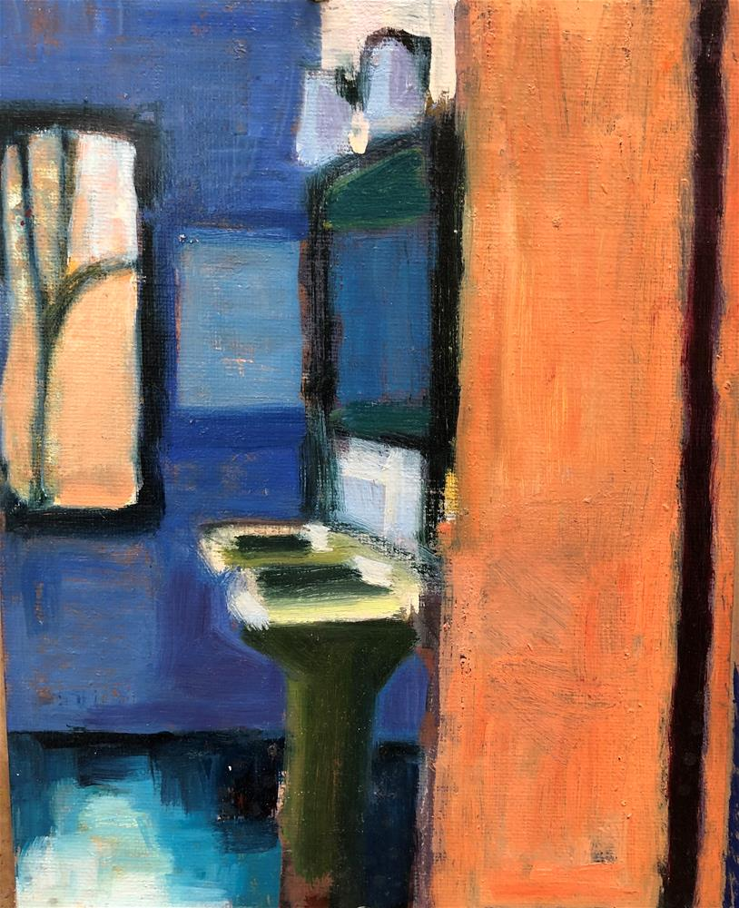 """Tucson Bathroom"" original fine art by Pamela Hoffmeister"