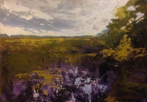 """Marsh Edge, West"" original fine art by Mary Gilkerson"