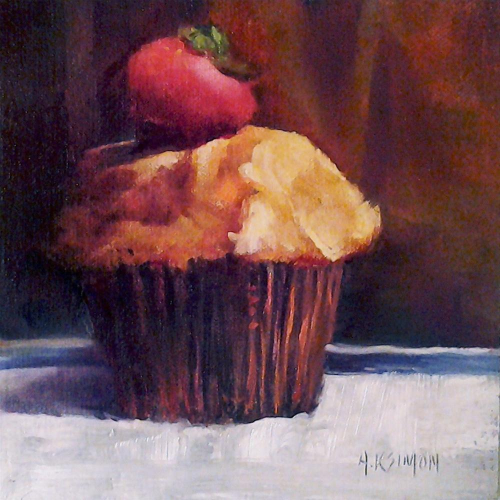 """Muffin from the Moon"" original fine art by A.K. Simon"