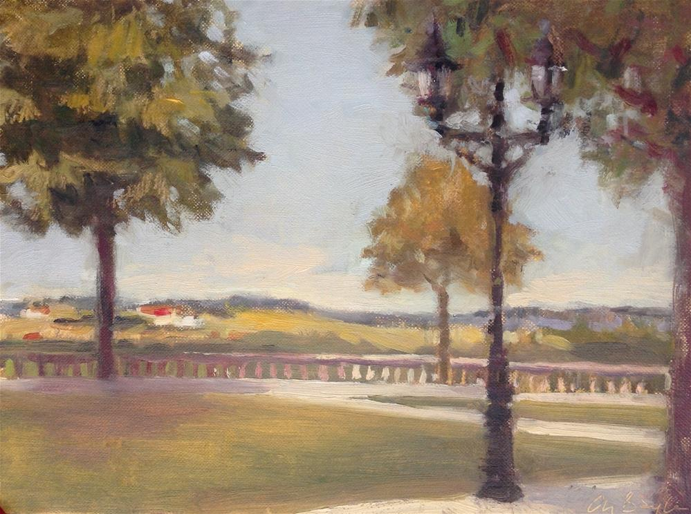 """l'esplanade"" original fine art by Christine Bayle"