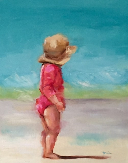 """Beach Awed"" original fine art by Marcia Hodges"