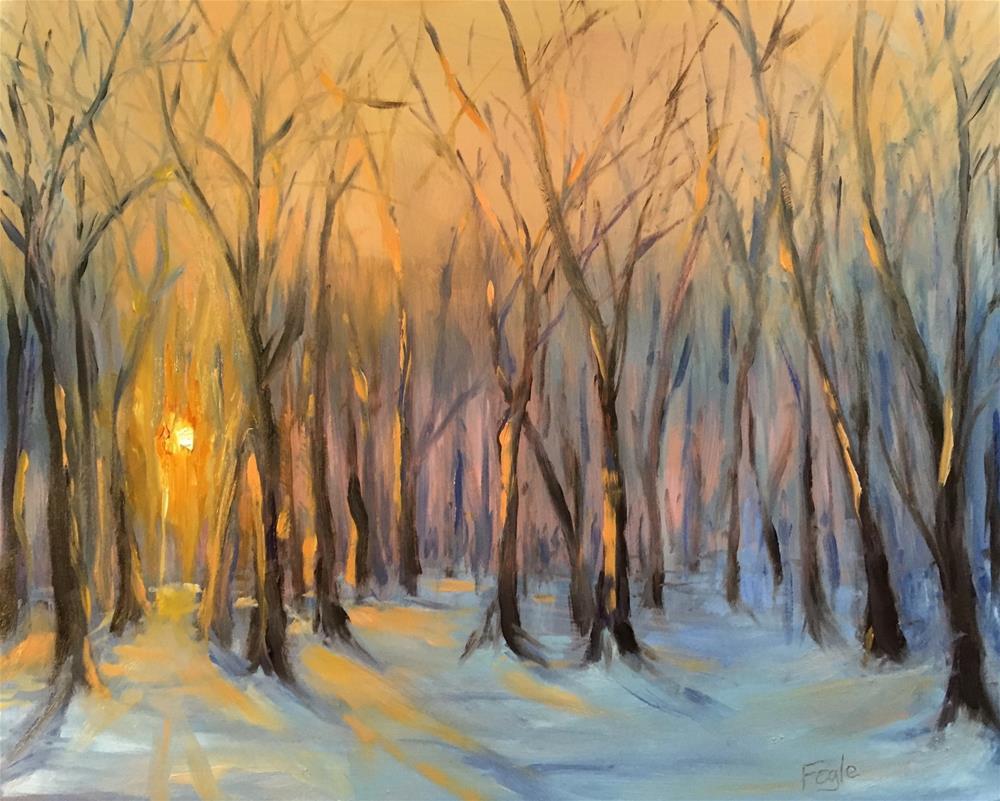 """15-13 Winter Dawn"" original fine art by Rachel Fogle"