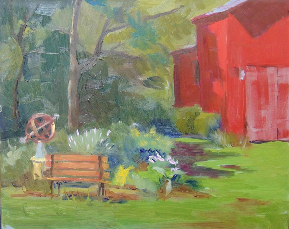 """The Museum Barn"" original fine art by Catherine Kauffman"