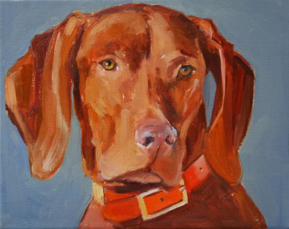 """""""vizsla"""" original fine art by Carol Carmichael"""