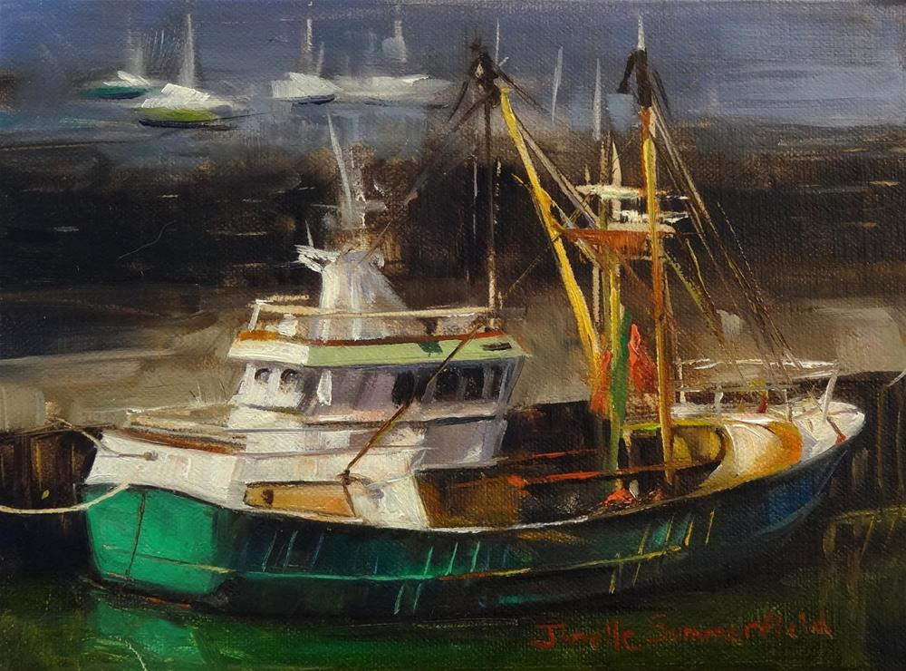 """Wexford Boat"" original fine art by Jonelle Summerfield"