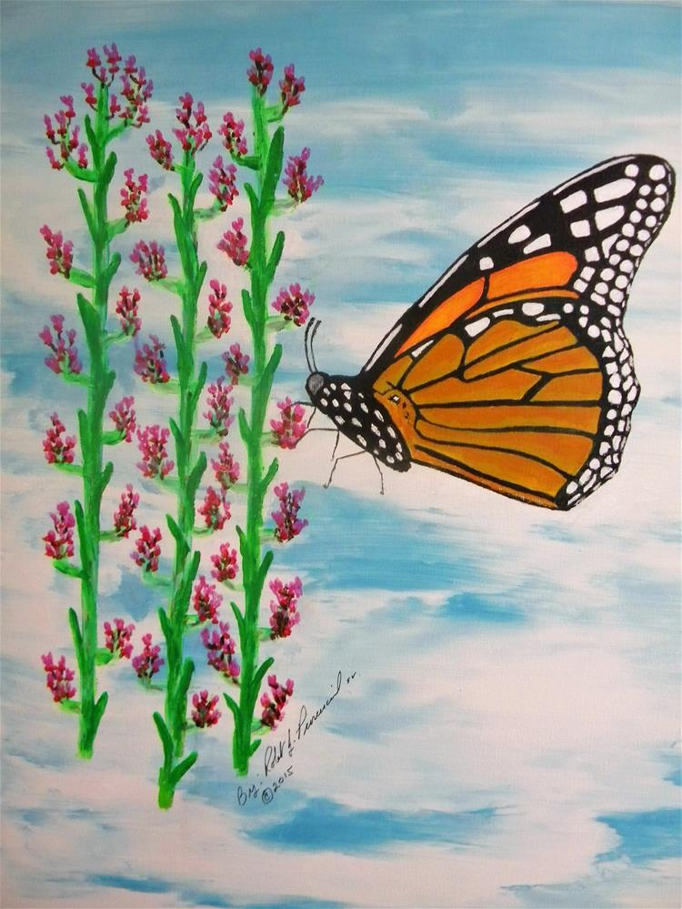"""Monarch Heaven"" original fine art by Robert Provencial"