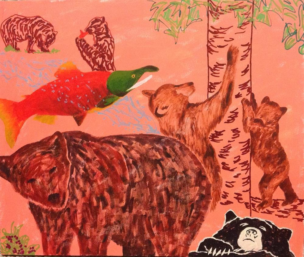 """""""Bear Necessities"""" original fine art by Rachel  Holland"""