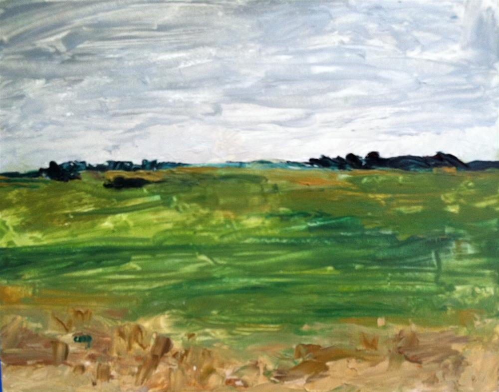 """landscape from Estonia"" original fine art by Christine Parker"
