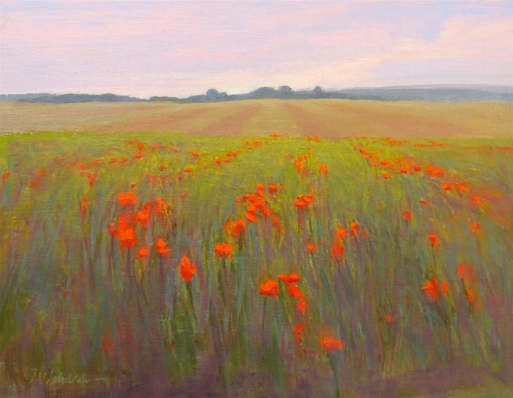 """""""#59 Poppy power"""" original fine art by Nancy Wallace"""