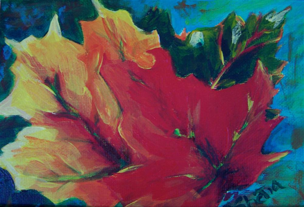 """Colors of Fall"" original fine art by Maureen Ghetia"