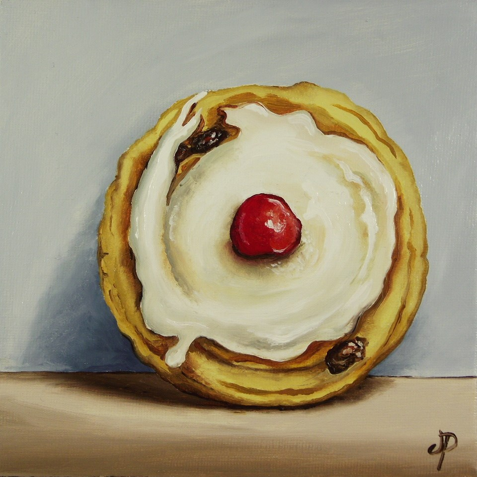 """Belgian Bun"" original fine art by Jane Palmer"