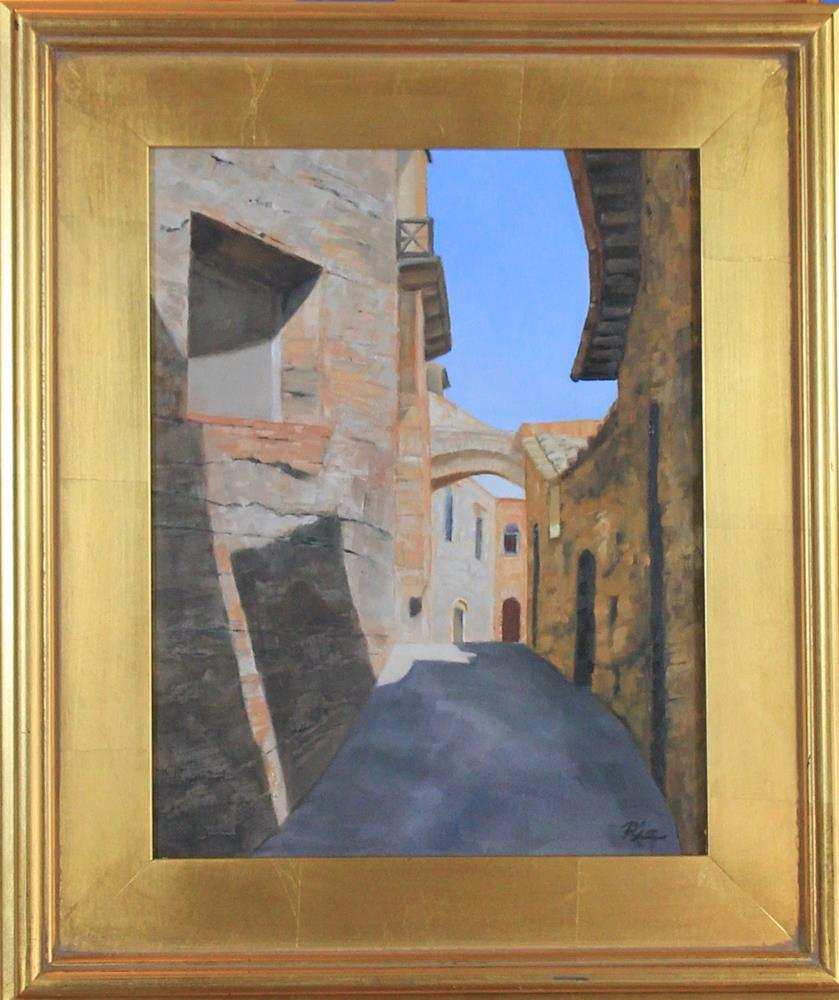 """Siena Street"" original fine art by Maria Reed"