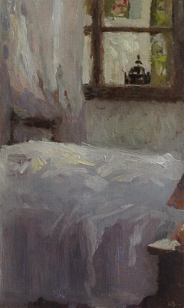 """Bedroom window"" original fine art by Christine Bayle"