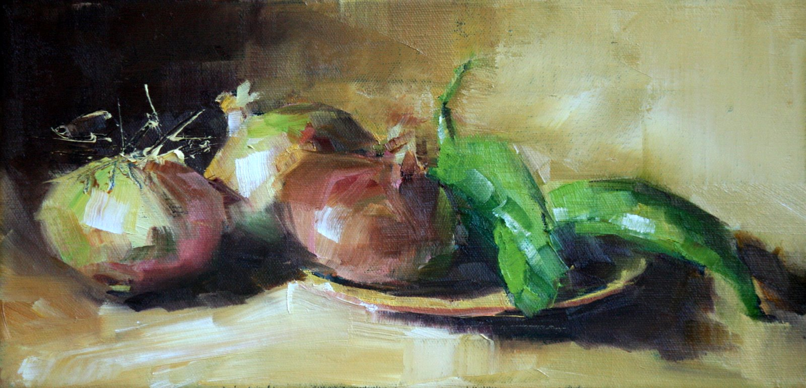 """vidalias and peppers"" original fine art by Carol Carmichael"