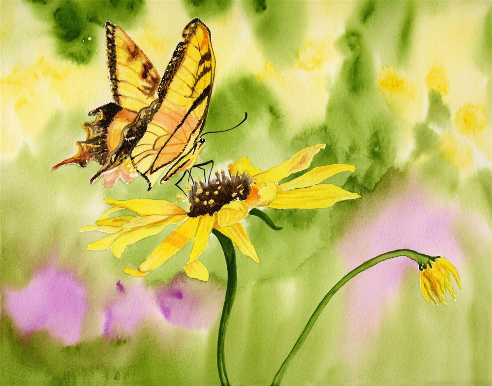 """Don't You Wish You Were A Butterfly?"" original fine art by Michelle Wolfe"
