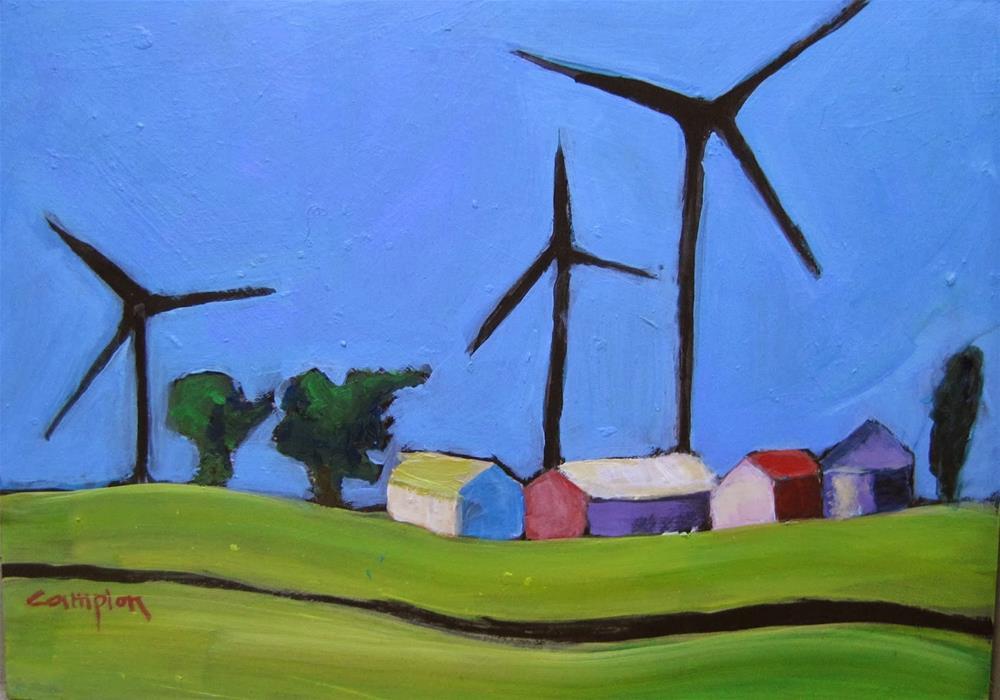 """171 Indiana Wind Farm"" original fine art by Diane Campion"