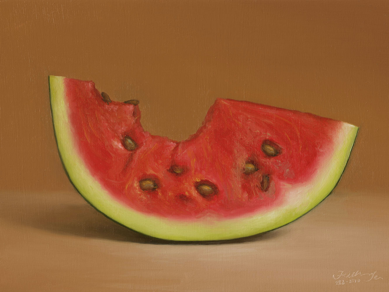 """Watermelon No. 2"" original fine art by Faith Te"