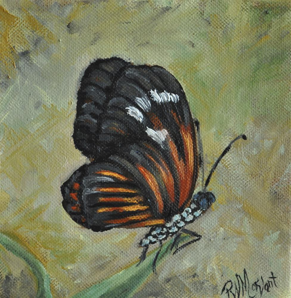 """Golden Butterfly"" original fine art by Peggy W Morvant"