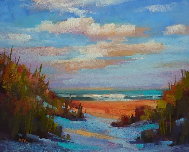 """'Renewed by the Sea'and 10 Reasons to Try Uart Paper"" original fine art by Karen Margulis"