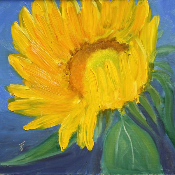 """""""Sunflower"""" original fine art by Jane Frederick"""