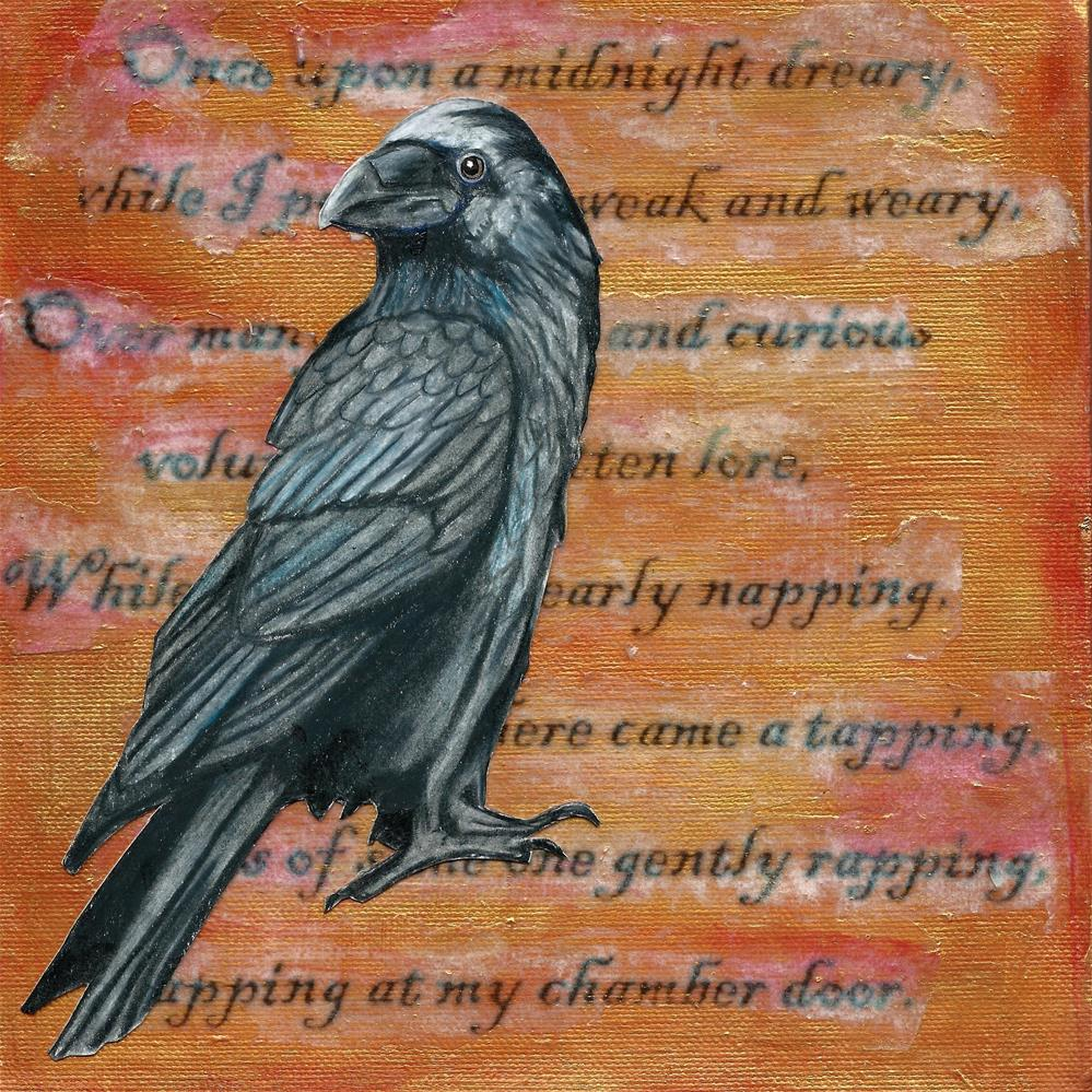 """Poe's Raven"" original fine art by Lisa Wiertel"