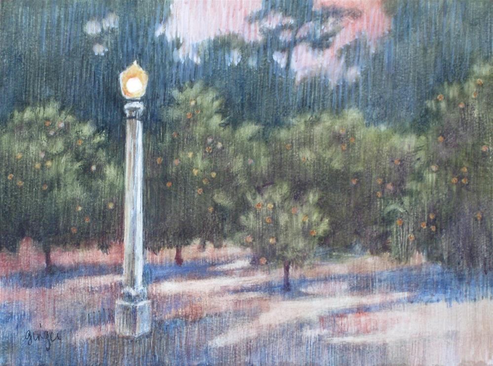 """Early Evening, Prospect Park"" original fine art by Ginger Pena"