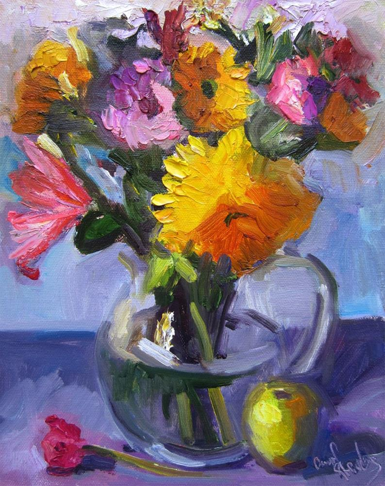 """Farmers Market Bouquet"" original fine art by Carol Steinberg"