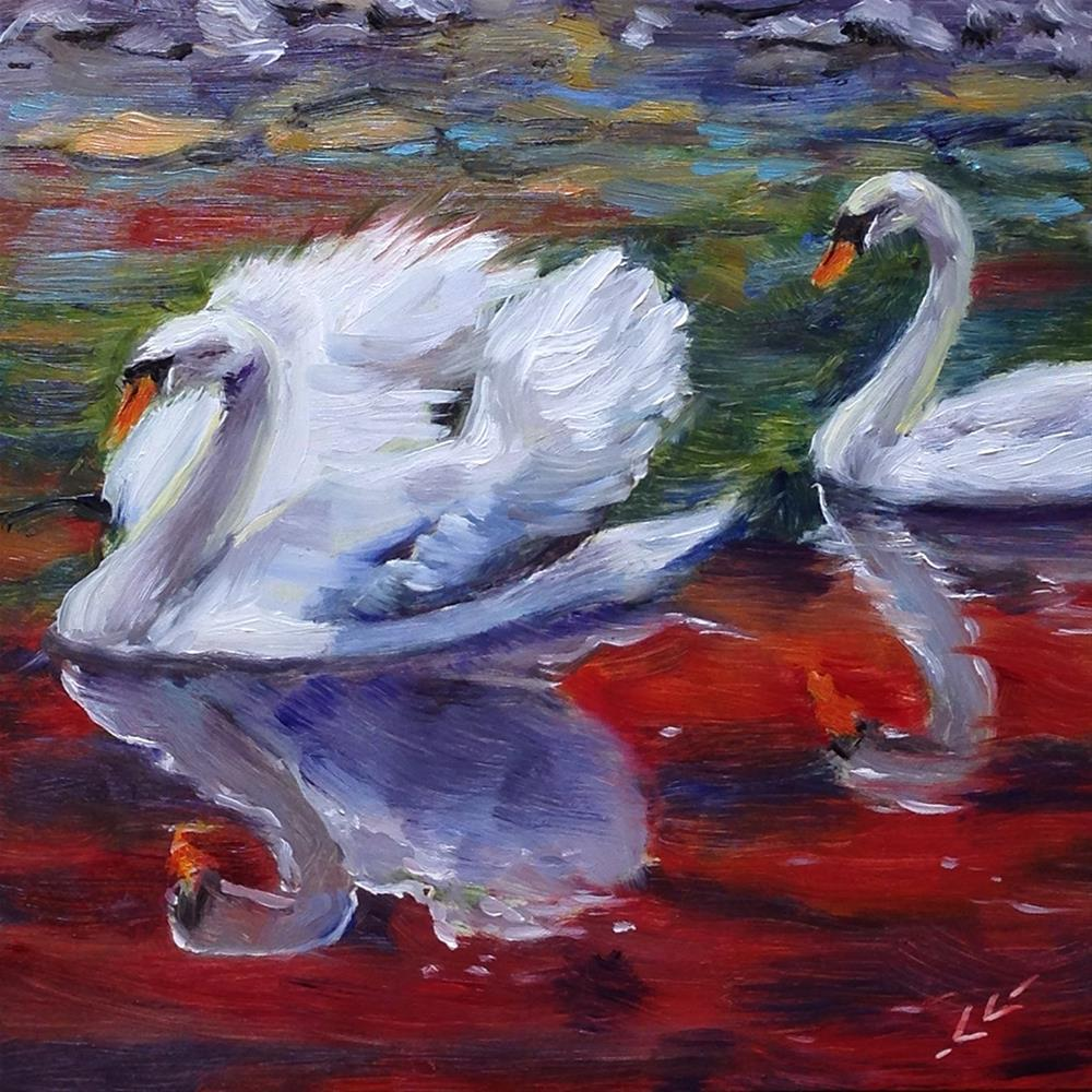 """Together"" original fine art by Linda Lowery"