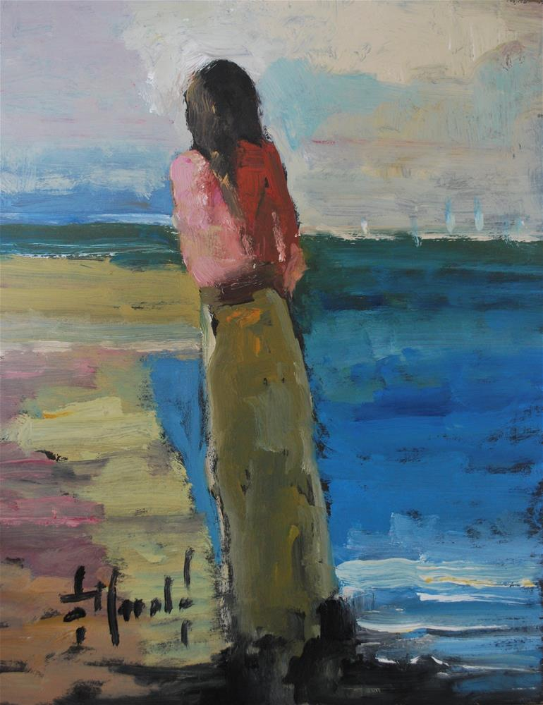 """lost In Thought"" original fine art by Deborah Harold"