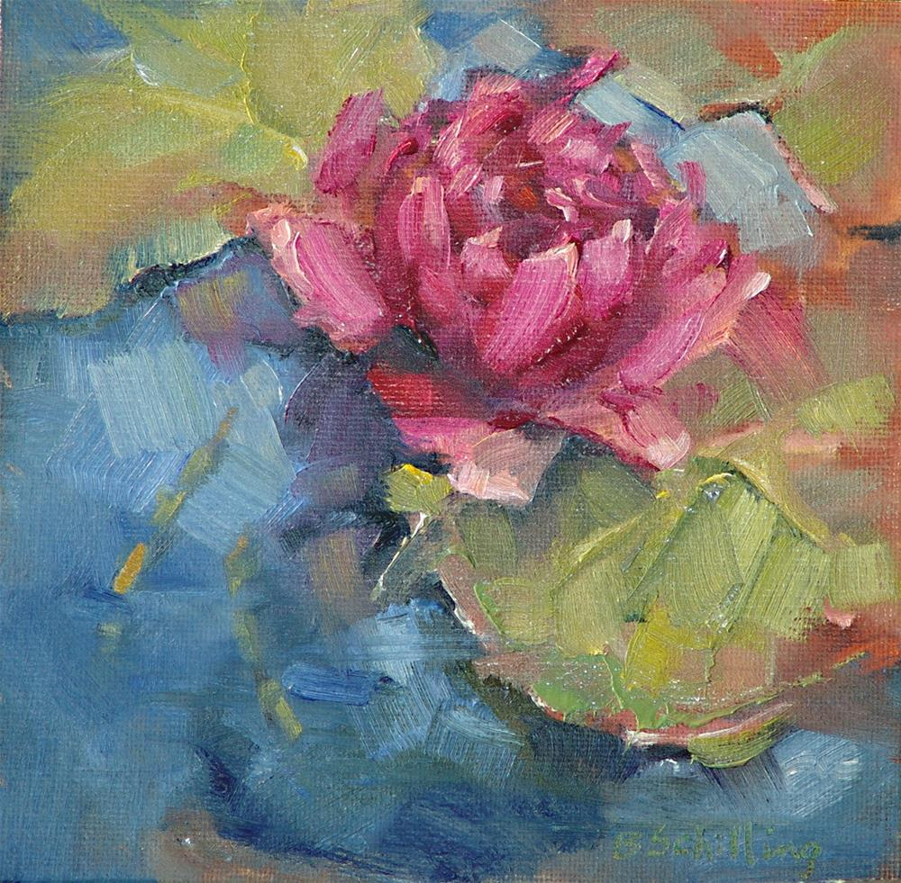 """Water Lily"" original fine art by Barbara Schilling"