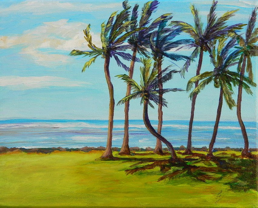 """Tropical Breeze"" original fine art by Gloria Urban"