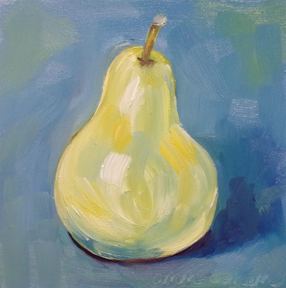 """""""Blue Pear"""" original fine art by Ann Cohen"""