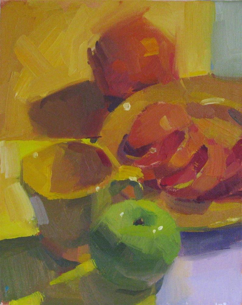 """Sliced Orange Still Life"" original fine art by Sarah Sedwick"