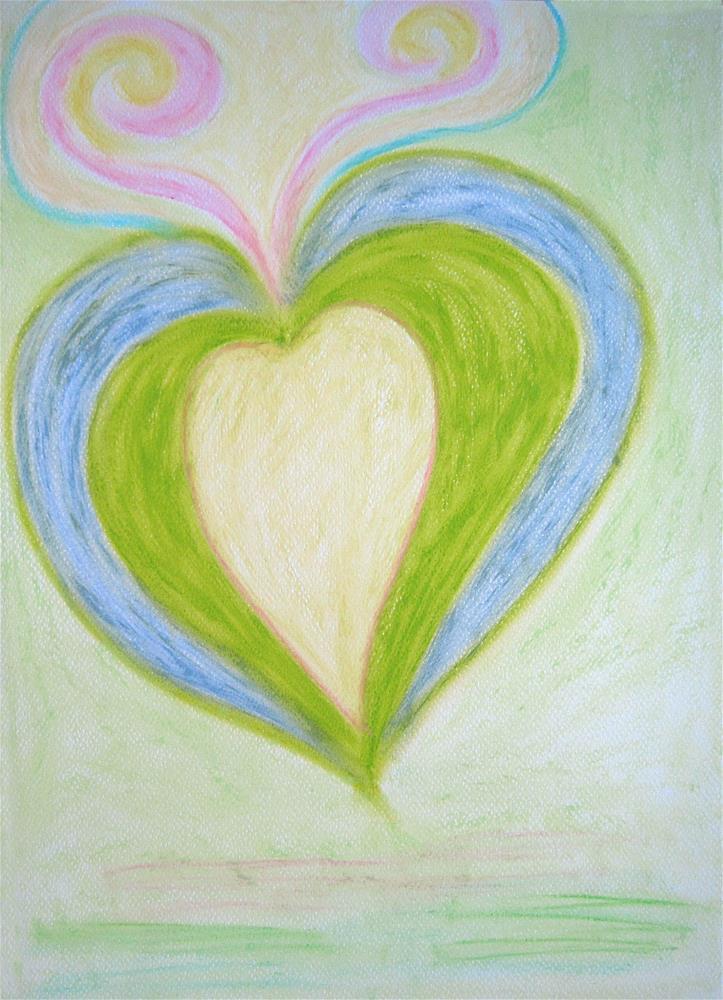 """""""Inner Heart"""" original fine art by Adéla Svobodová"""