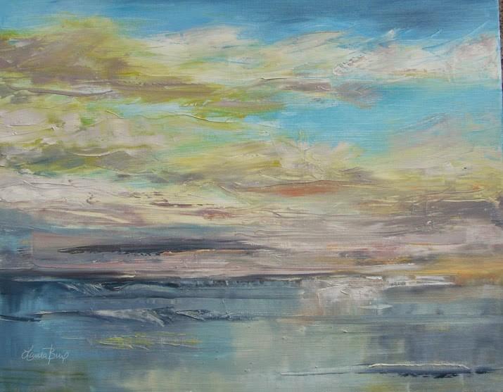"""Ocean Impression"" original fine art by Laura  Buxo"