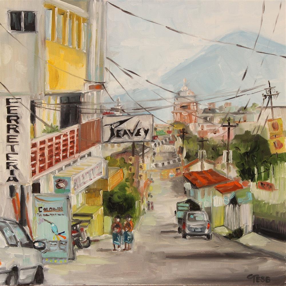 """Bailando- Enrique Iglesias"" original fine art by Tess Lehman"