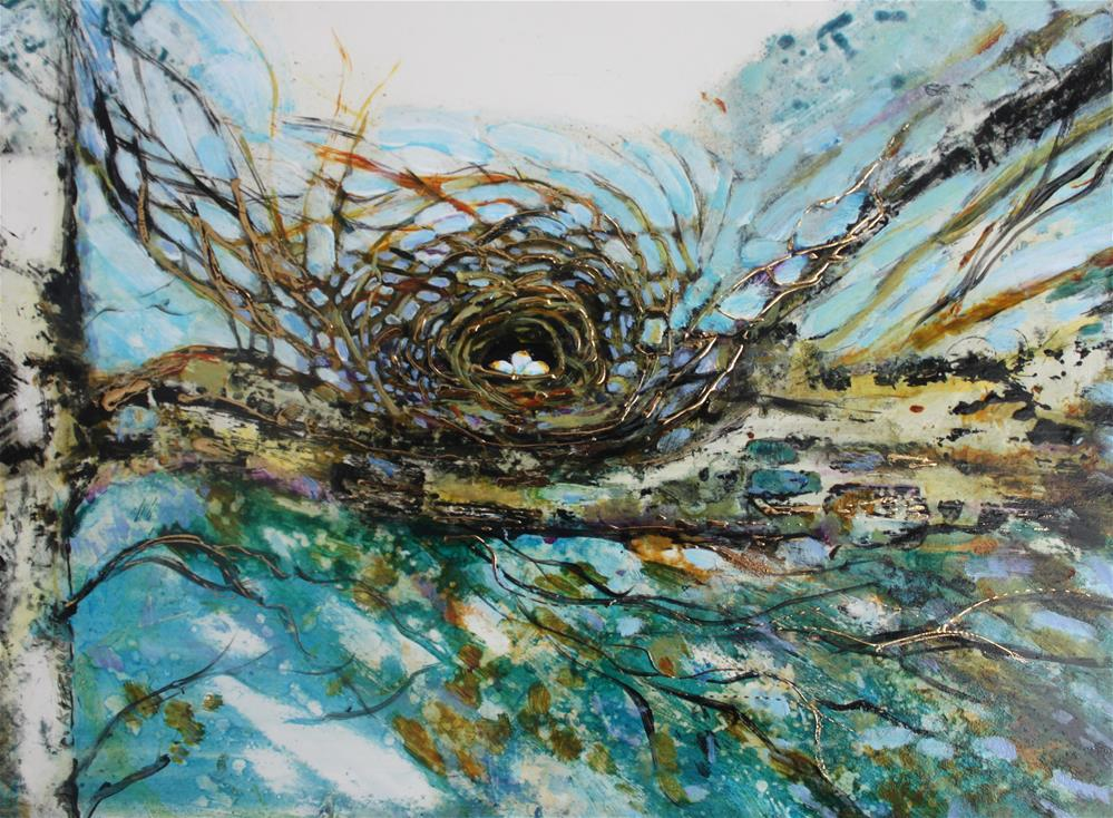 """Golden Nest"" original fine art by Christiane Kingsley"