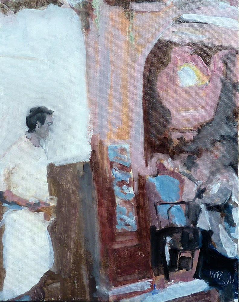 """Koch macht Pause, Paris Montmartre / cook makes break, Paris Montmartre"" original fine art by Mila Plaickner"