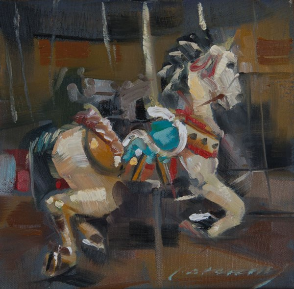 """Carousel Steed"" original fine art by Patricia Canney"